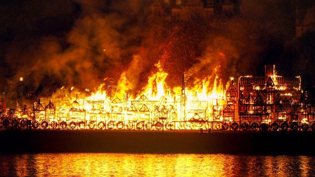 Fire of London Barge