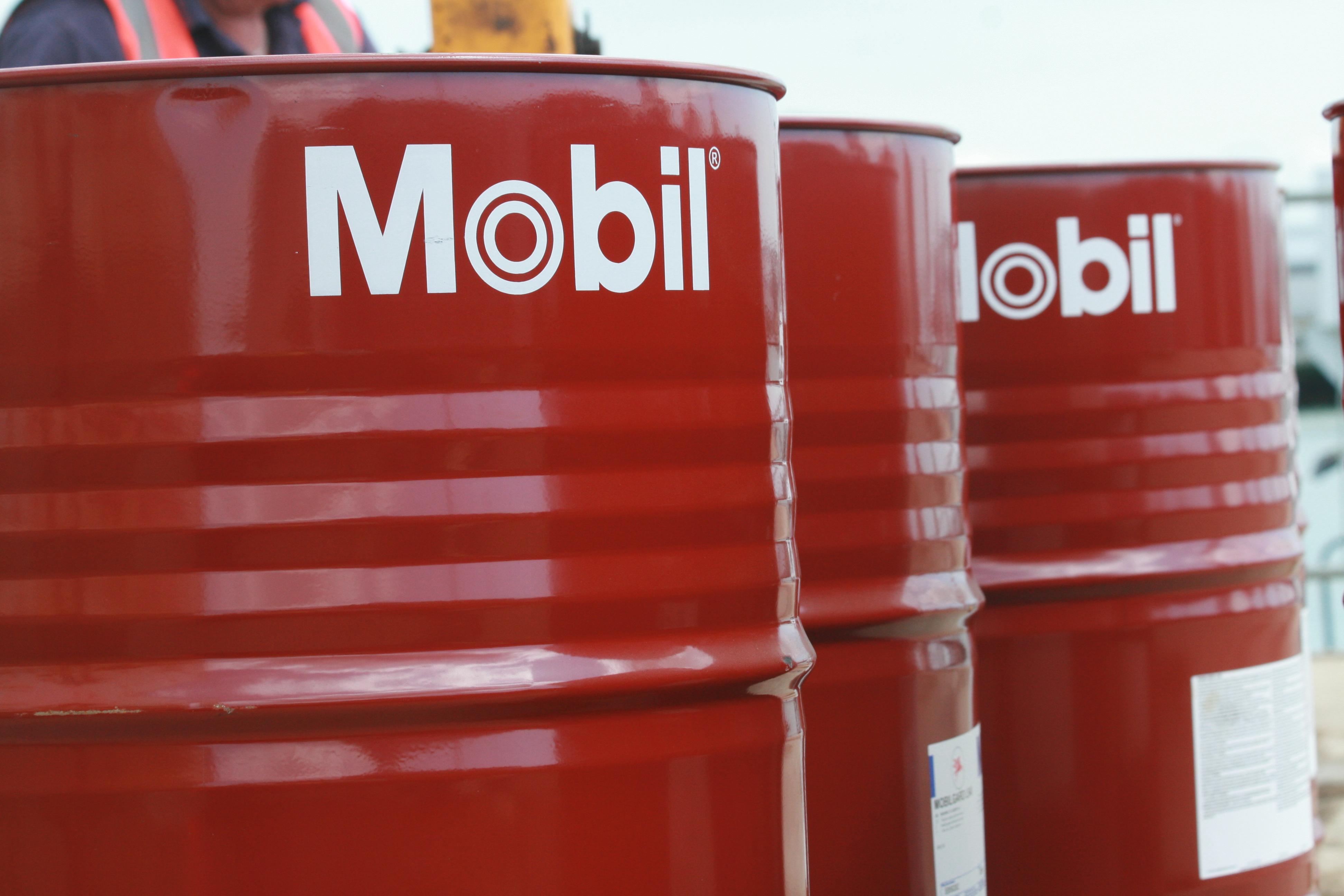 Mobil Lubricant Barrels