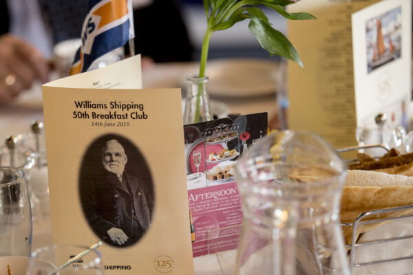 Williams Shipping 50th breakfast networking event