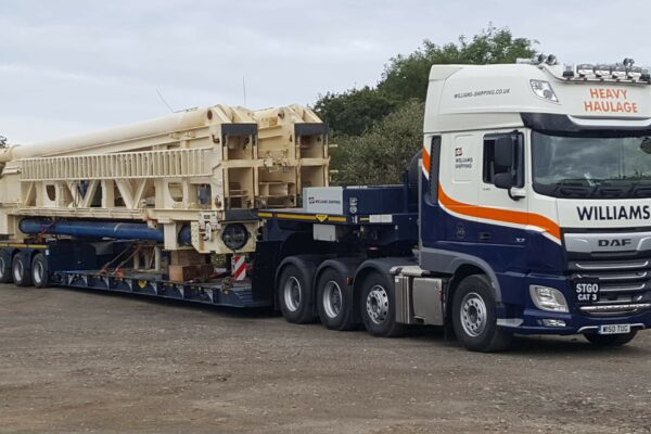 An abnormal load on a heavy haulage truck