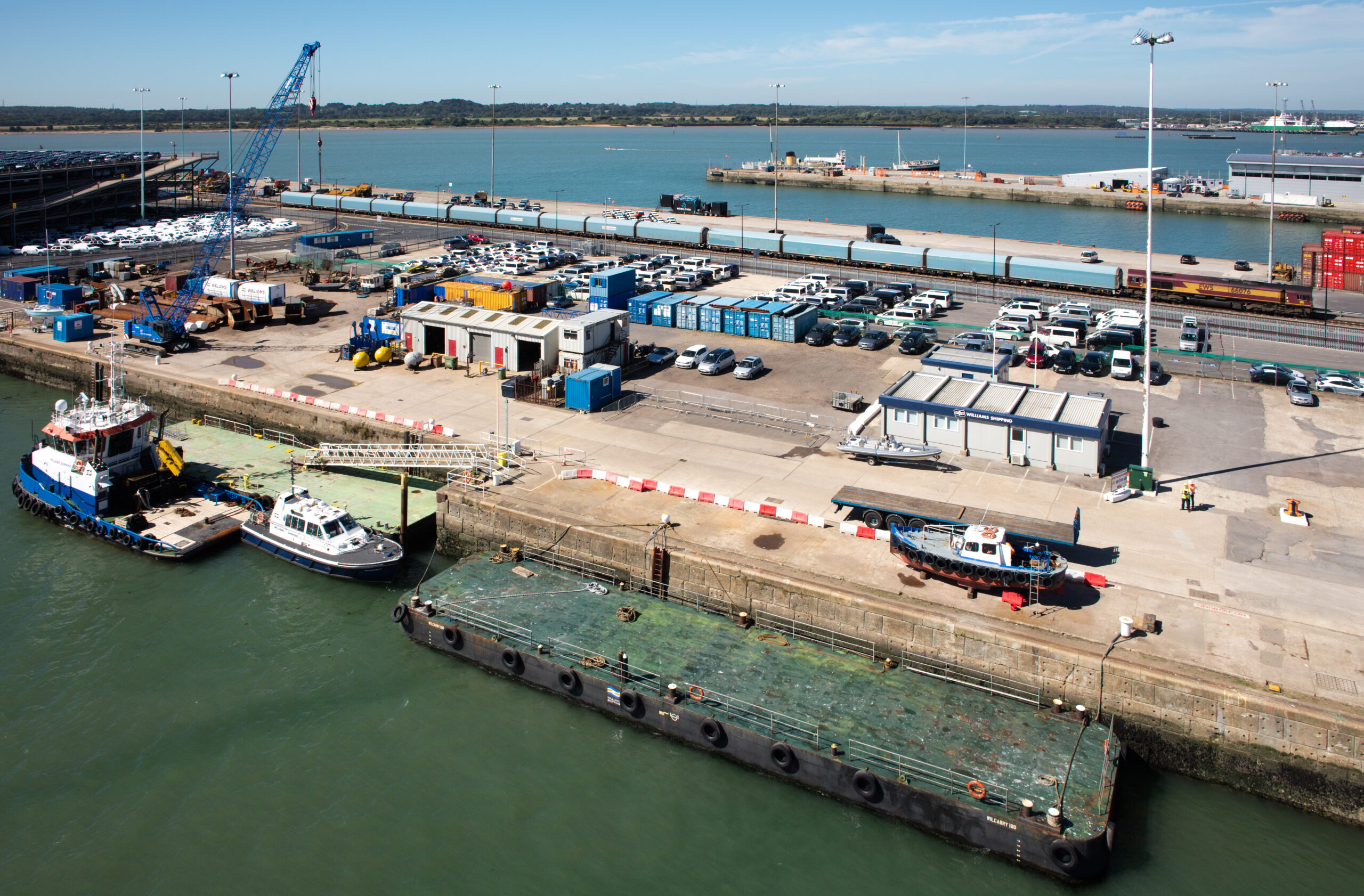 Quayside Storage at Southamptons Eastern Docks